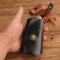 原创手工汽车钥匙包男士 头层牛皮个性简约女士可爱钥匙包