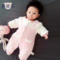 婴儿连体衣服0岁3个月宝宝新生儿衣服冬季棉衣哈衣季6冬装