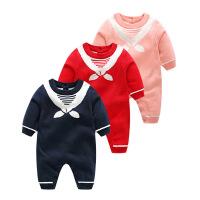 婴儿连体衣女宝宝春装新生儿纯棉衣服12婴幼儿哈衣0-6个月1岁春秋