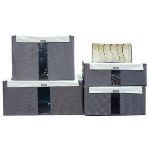 乐扣乐扣 圆点百纳箱4+1套装LLB157CW005 收纳箱 柜 优品优质收纳盒整理箱