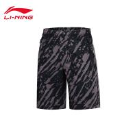 李宁运动短裤男士运动时尚系列休闲夏季男装梭织运动裤AKSP541