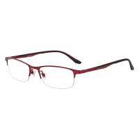 防蓝光眼镜女近视防辐射电脑护目镜女平光眼镜商务合金半框眼镜架