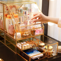置物架桌面收纳整理神器化妆品收纳盒护肤品口红刷梳妆台