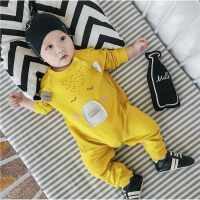新生儿连体衣婴儿衣服0一1岁韩版棉外出哈衣幼儿6-12个月宝宝爬服