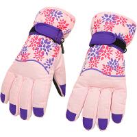 手套女冬季加厚保暖加绒棉手套防寒骑车防风防水冬天户外滑雪手套新品 均码