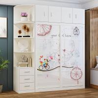 【满减优惠】衣柜推拉门现代简约实木组装整体卧室家用经济型儿童衣橱移门衣柜