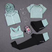 【速干衣裤 速干服】新款瑜伽服套装运动户外跑步吸汗速干时尚外套女秋冬健身服五件套