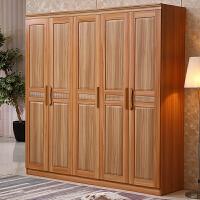 卧室整体板式组装衣柜 简约现代经济型非实木质组合四五门衣橱 6门 组装