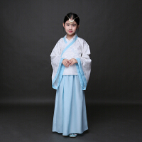 新款儿童古装汉服女童学馆服装幼儿国学班书童弟子规演出学童孔子