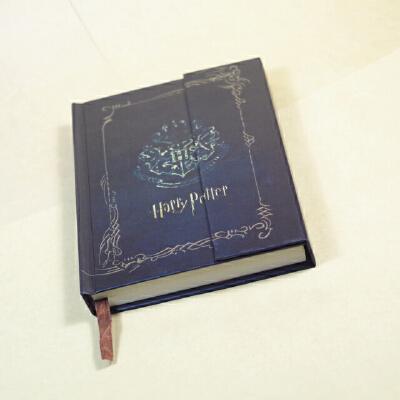 哈利波特周边 磁扣记事本 彩页硬抄笔记本复古计划本旅行日程本 哈利波特日程本(蓝)