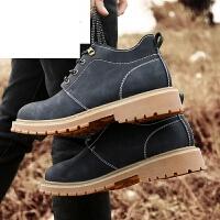 潮牌秋冬保暖休闲男鞋马丁靴英伦工装靴高帮雪地靴靴子军靴