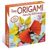 英文原版 简易折纸2020年日历 每天一页 含教程与纸张 新年礼物 日本折纸艺术 Easy Origami 2020 Day-to-Day Calendar 办公室桌面