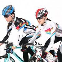 男女山地车装备自行车服 骑行服套装长袖男女上衣长裤全套速干透气