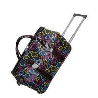 彩色米奇头牛津纺卡通时尚拉杆包旅行包行李袋手提大容量旅游包