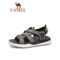 camel骆驼真皮凉鞋户外沙滩鞋2019夏季新款潮流休闲镂空男士越南凉皮鞋