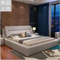 布艺床可拆洗婚床双人床慕斯CBD同款北欧软床现代主卧软包床布床定制