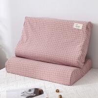 纯棉乳胶枕套单人60x40小枕头套单个全棉儿童记忆枕内胆套一对拍2