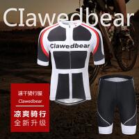 骑行服男夏季短袖套装山地自行车服女速干排汗单车骑行裤上衣装备