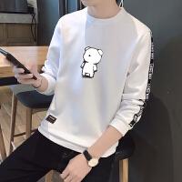男士长袖T恤2018春季青少年上衣服男装薄款卫衣韩版潮打底衫秋衣