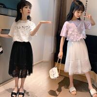 女童夏季套装洋气时髦儿童中大童女孩两件套裙子