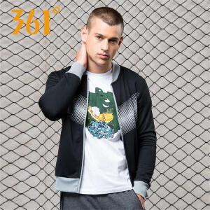 【折上1件5折 2件4折】361度男装运动服开衫卫衣秋季薄款休闲棒球服长袖百搭外套上衣男