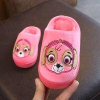 卡通儿童拖鞋居家室内宝宝保暖棉拖半包跟男童女童防滑棉拖鞋