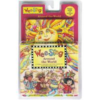 英文原版 欧美经典儿歌 Wee Sing Around the World 周游世界 附CD 儿童韵文歌谣