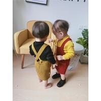 婴幼儿女宝宝吊带无袖包裙背带连衣裙子百搭款0-4岁春秋款