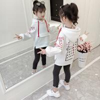 童装女童加绒卫衣套装韩版秋冬装中大儿童上衣套装潮