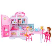 抖音同款儿童过家家玩具芭比娃娃大礼盒套装 梦幻城堡迷你厨房宠物收纳盒早教益智3-6岁生日