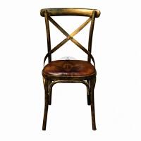 美式LOFT铁艺实木餐桌咖啡厅桌椅组合工业风酒吧复古吧台桌