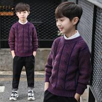 童装男童圆领毛衣冬装儿童保暖针织衫打底衫宝宝上衣