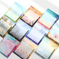 油画艺术创意便利贴 韩国可爱N次贴纸 小清新留言记事便签纸文具