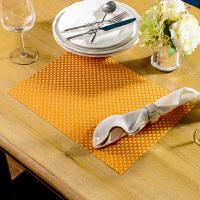 奇居良品 环保可水洗西餐桌防滑餐垫隔热垫子 编织纹PVC餐垫