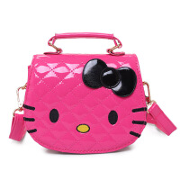 韩版儿童包包女童斜挎包时尚kt猫包可爱手提小女孩宝宝单肩包 玫红色