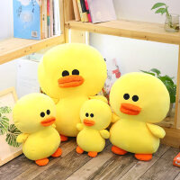 可爱大黄鸭公仔创意毛绒抱枕玩具布娃娃小黄鸭玩偶 生日礼物女生