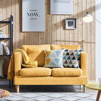 大森林家具布艺沙发日式小户型客厅卧室单人两人双人三人小沙发