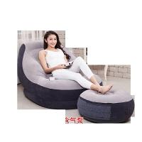 懒人沙发榻榻米充气沙发创意小户型座椅单人可爱折叠躺椅床