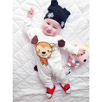 婴儿衣服春装连体衣春05月宝宝外出服新生儿爬爬服睡衣新年