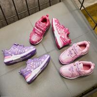 童鞋女童运动鞋单鞋秋冬儿童跑步鞋可爱公主鞋3到9岁