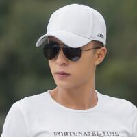 韩版潮男士遮阳防晒鸭舌帽 休闲百搭白色棒球帽 纯色光板帽子女士