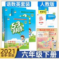 新版2019 春 53天天练语文数学英语六年级下册人教版 R 3本 内含53小学测评卷 知识清单