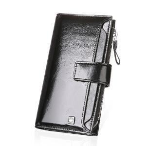 瑞士军刀油蜡皮韩版搭扣长款钱包卡包零钱包BW660222