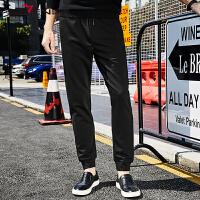柒牌男装 2017新款哈伦裤男长裤子潮流韩版收口男士休闲裤运动裤