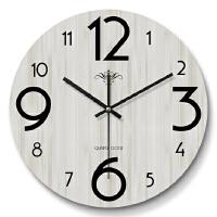 20200110201435678家用现代简约钟表客厅挂钟创意卧室北欧美式时钟挂表静音个性装饰