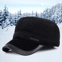 男士帽子冬天韩版平顶帽户外休闲运动秋冬季加厚保暖护耳鸭舌帽