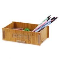 创意木质桌面收纳盒化妆品杂物首饰整理遥控器小物件储存盒