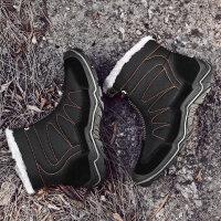 雪地靴男冬季保暖加绒2018新款登山鞋户外休闲鞋东北加厚防水棉靴新品