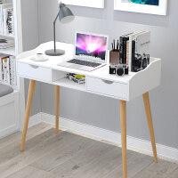 北欧电脑桌家用台式电脑桌现代简约写字台实木桌子卧室学生书桌
