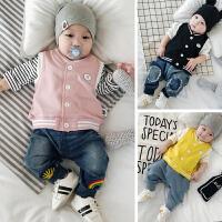 婴儿马甲秋装0-3岁2新生儿秋季衣服男女幼儿马夹宝宝百搭上衣